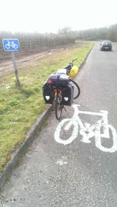 Picture of the bicycle, half way there