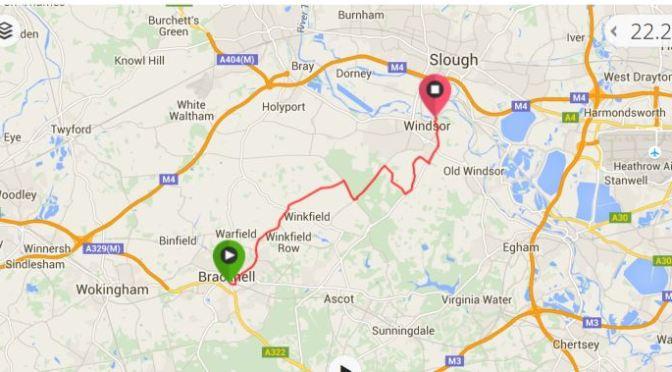 Bracknell Station to Windsor Bike Ride Map