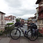 Old bridge over the river Nive