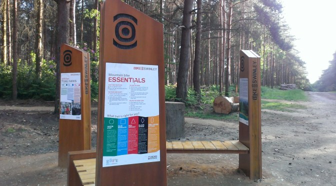 Swinley Forest Mountain Bike Trails Sign