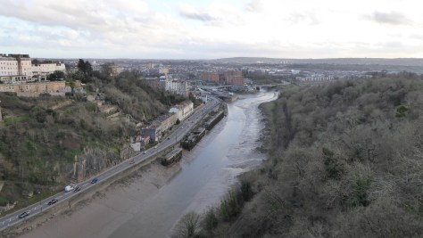 View to the right of the Clifton Bridge