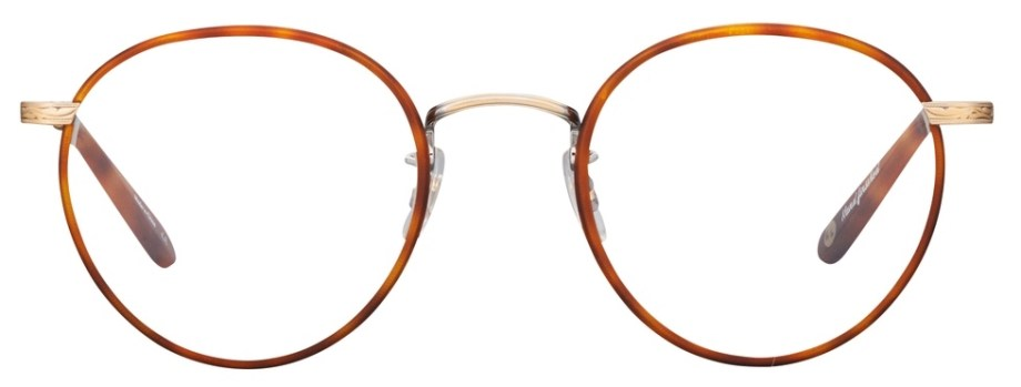 Garrett Leight Wilson_49_Matte_Butterscotch-Antique_Gold-Matte_Dark_Honey_Tortoise