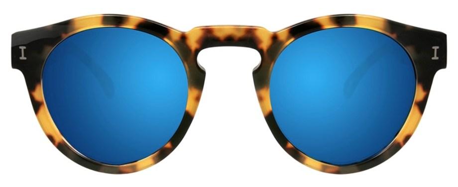 Illesteva Leonard Tortoise with Blue Mirrored Lenses