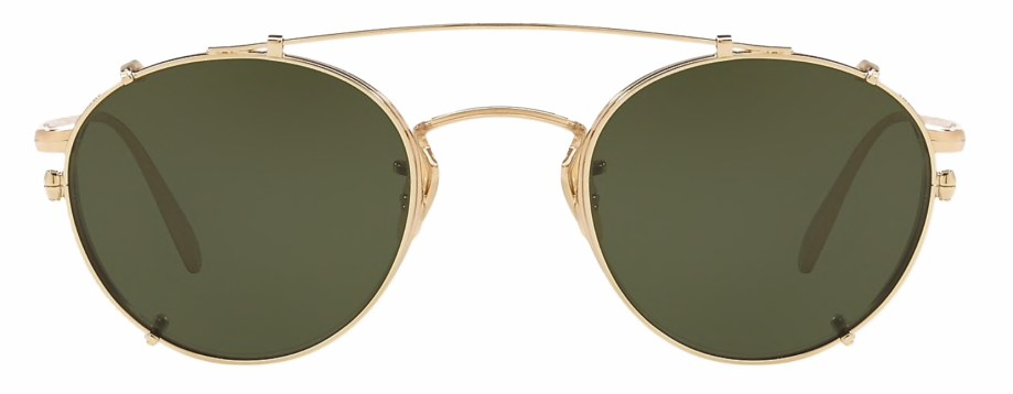 Oliver Peoples Coleridge Clip Gold _ Green front