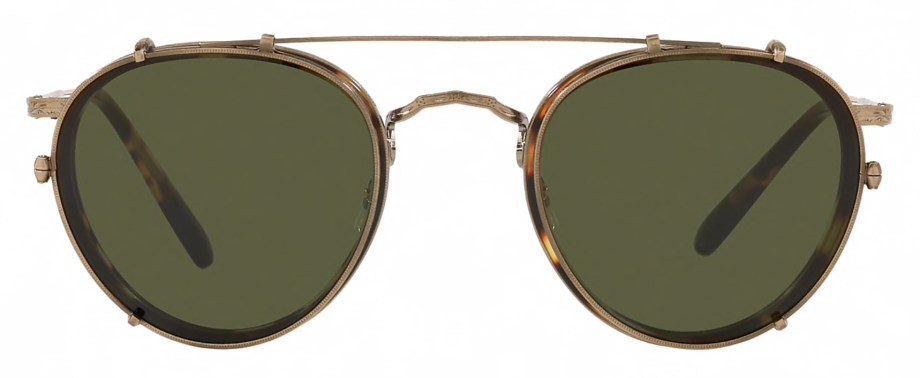 Oliver Peoples MP-2 CLIP – Antique Gold _ Green front