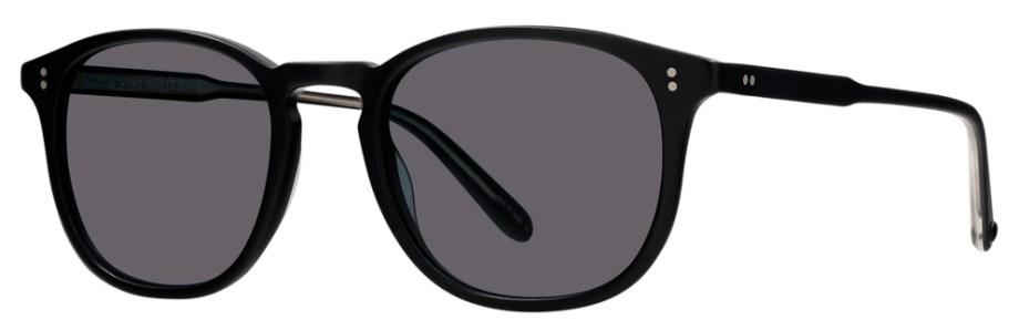 Sunglasses Garrett Leight KINNEY Matte Black Kinney_49_Matte_Black-Semi-Flat_Blue_Smoke_2007-49-MBK-SFBSv2_1296x