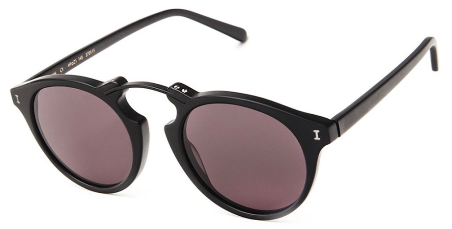 Sunglasses Illesteva SULLIVAN – Matte Black : Grey side