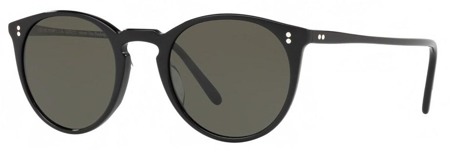 Sunglasses Oliver Peoples O'MALLEY – Black – Grey Polar 3_4 side