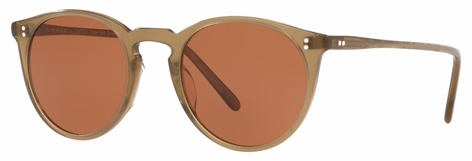 Sunglasses Oliver Peoples O'MALLEY – Dusty Olive – Persimmon 3_4 side