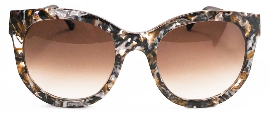 Sunglasses Thierry Lasry LIVELY Vintage Blue Pattern _ Gold V180 front
