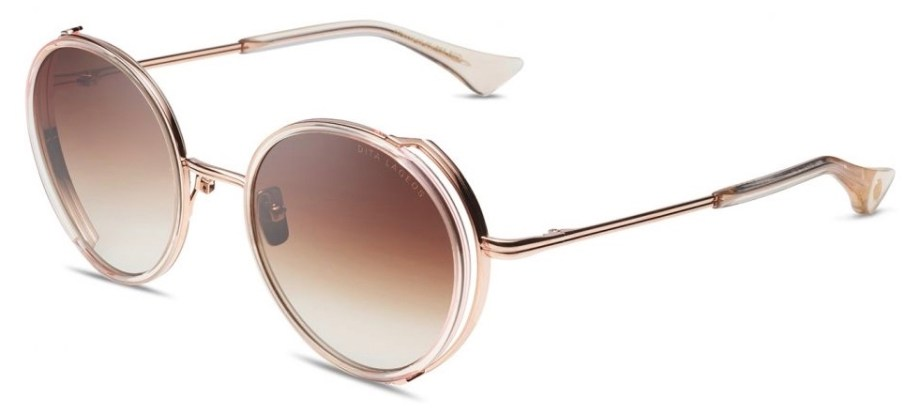 dita lageos white rose crystal 3:4 side sunglasses