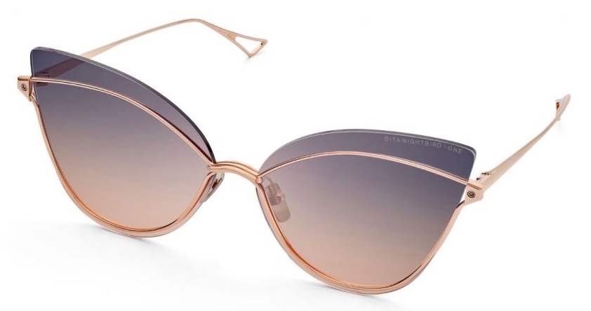 dita nightbird rose gold grey to peach gradient sunglasses 3:4 side