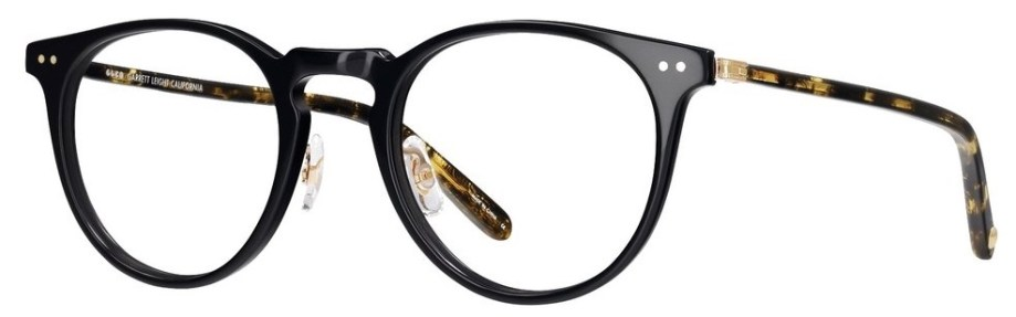garrett leight Ocean_46_Black-Black_Amber-Gold side