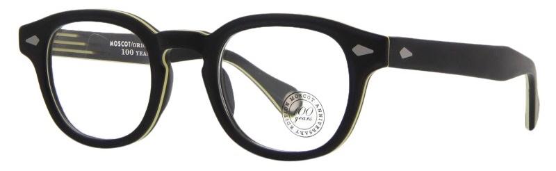 lunettes-de-vue-moscot-lemtosh matte black yellow 3:4 side