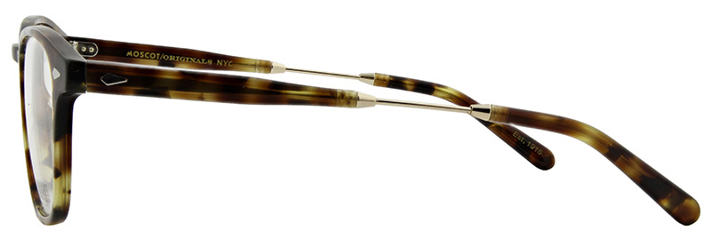lunettes-de-vue-moscot- spot tortoise gold side