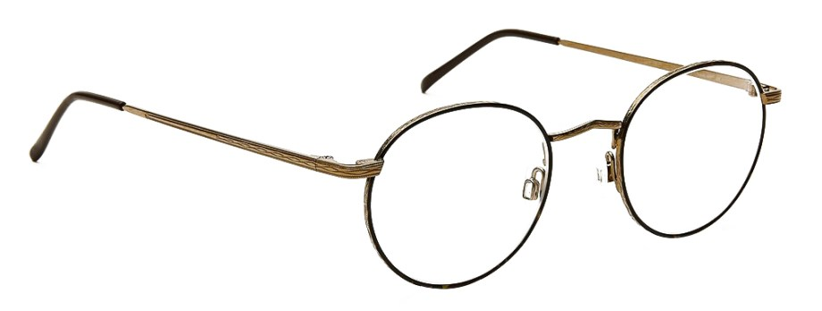 moscot dov tortoise antique gold side