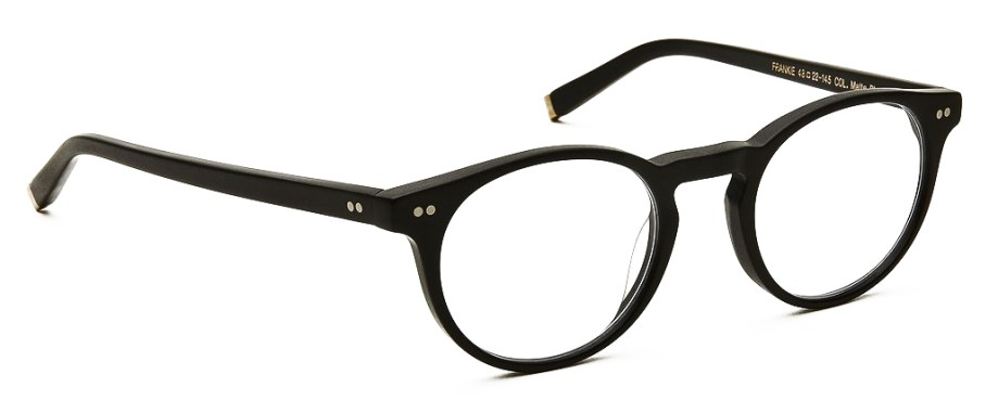 moscot frankie matte black side