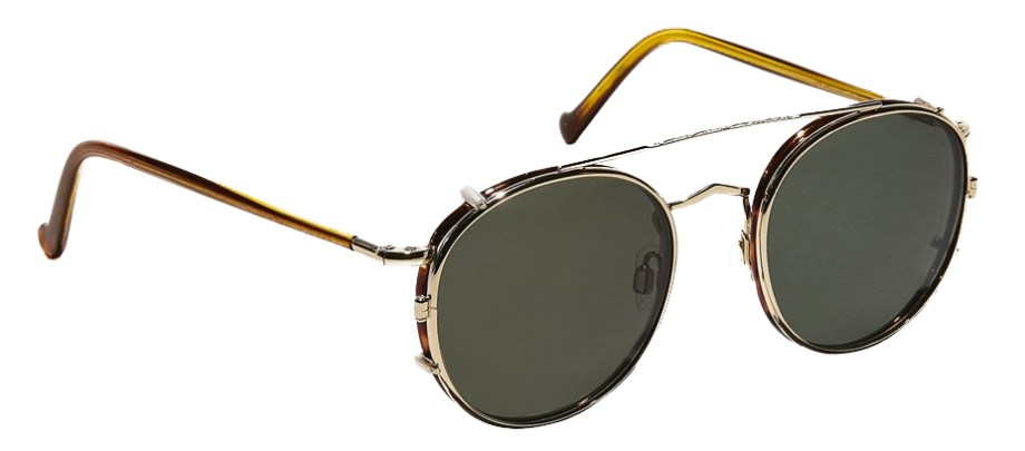 moscot zev clip gold side