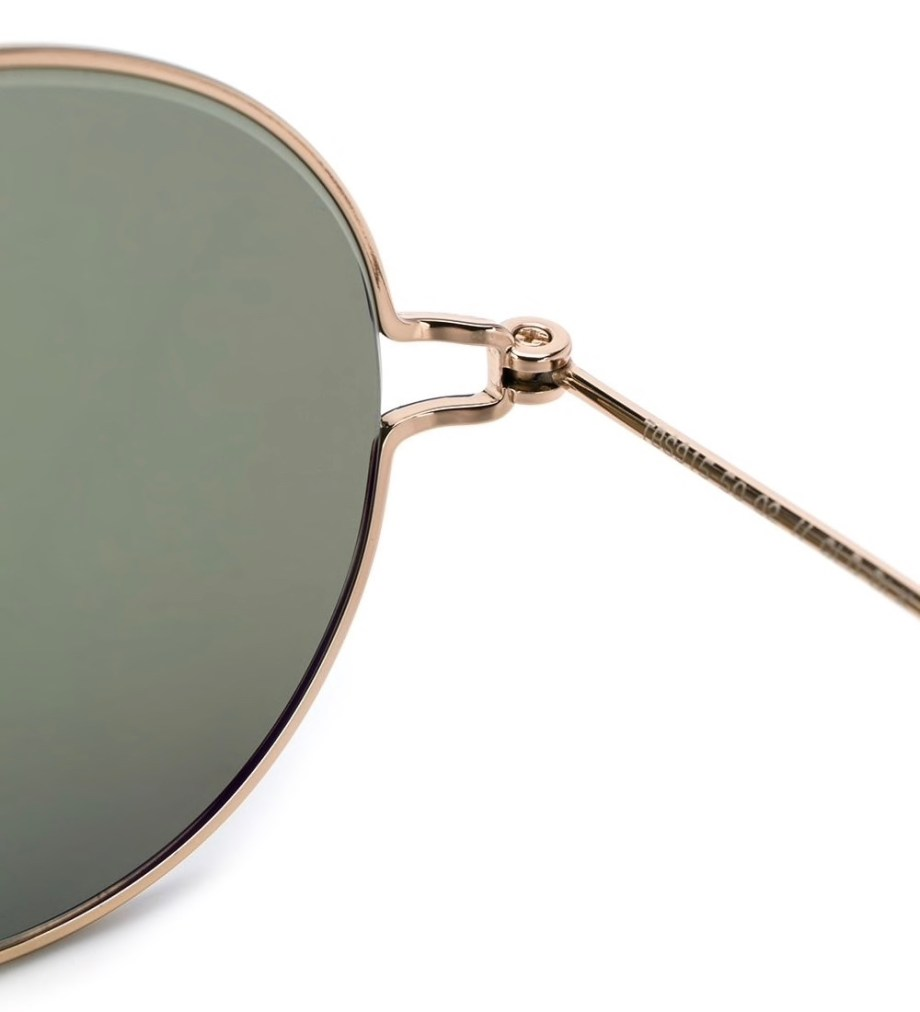 thom browne eyewear TB915 gold round sunglasses zoom