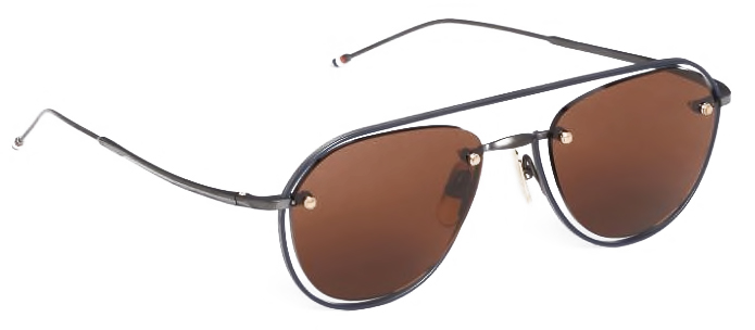 thom-browne-eyewear-tb112-black-iron-aviator-sunglasses 3_4 side