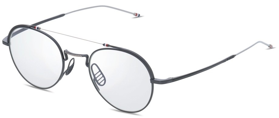 thom browne optical tbx 912 03 black iron silver 3:4 side