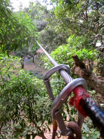 Approaching the zip-line