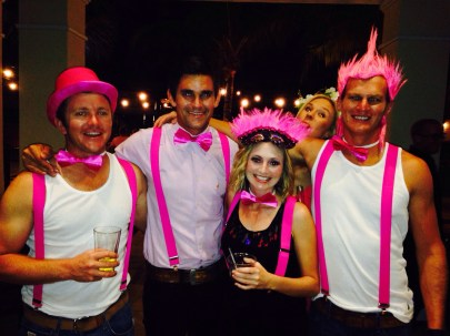 The pink bow tie and braces team :)