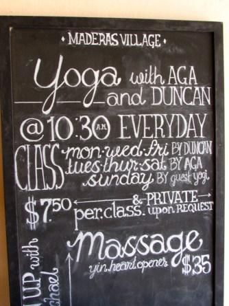 Yoga at Maderas Village