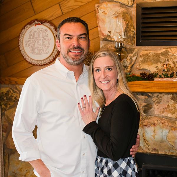 Photo: Sarah and her husband