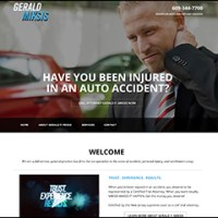 Gerald F Miksis Accident Attorney Website Design