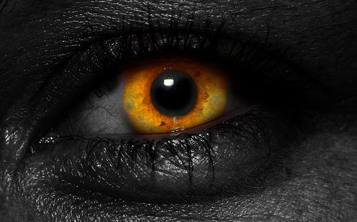 dark golden eyes