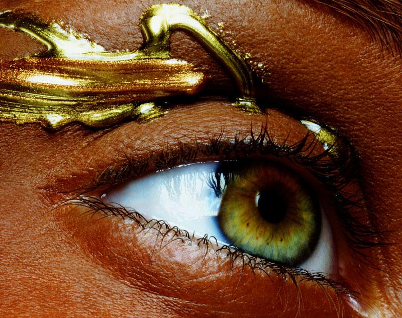 Gold Eye Ornament