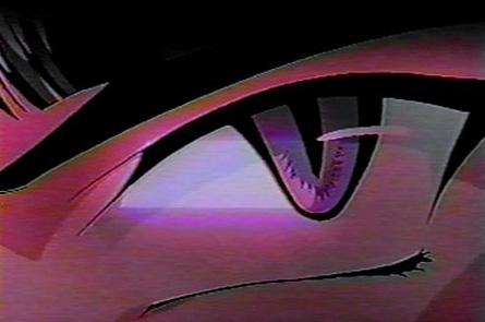 purple comic eye