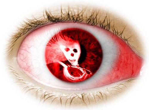 red eye of sickness