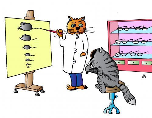 comical eye doctor