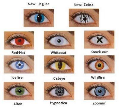 halloween eye contacts set
