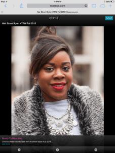 Essence.com- Hair Street Style (NYFW 2015)