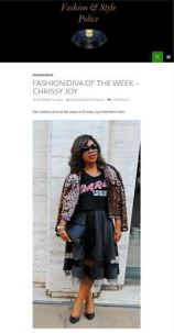 Fashion Diva Of The Week- FashionAndStylePolice.com
