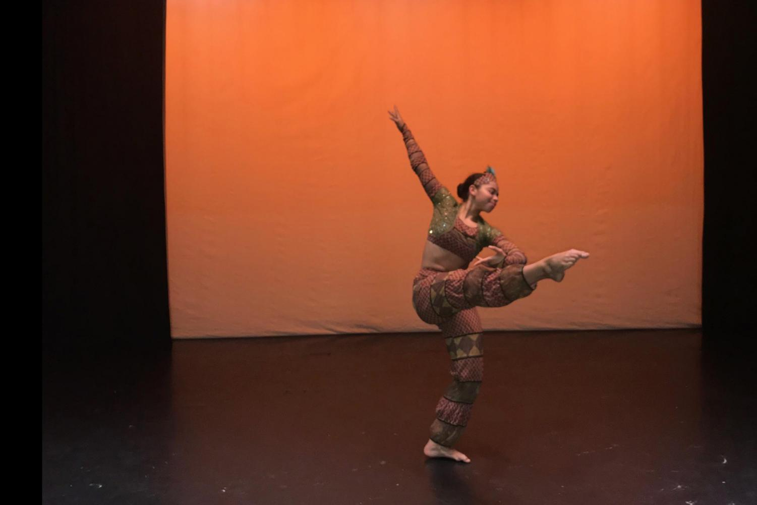 (COURTESY/KAYLYN FLOWERS)  Senior Kaylyn Flowers performs an Arabian solo dance number for her dance company, the Northern California Dance Conservatory during their rendition of the Nutcracker.