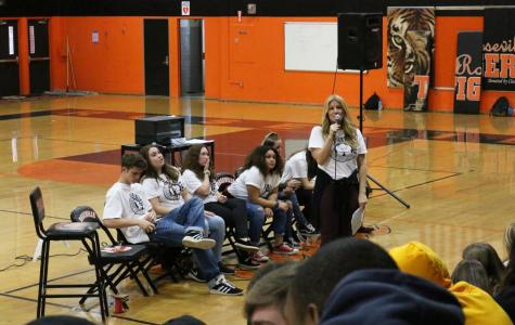 """Peer helping puts on """"Be the Change"""" assembly"""