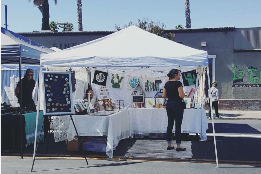 (COURTESY/MARIE RAMIREZ)  Sophomore Aria Ramirez has used her time working for The Freckled Moon to perfect her ability to interact with customers. She plans to take on greater responsibility of the business in the future.