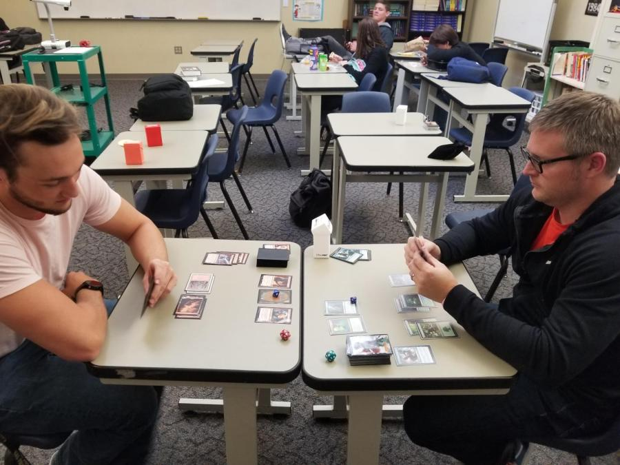 Brink, along with various members of the Board Game Club, are in the process of reviving vintage card game Magic: The Gathering. After falling out of love with the game, its resurgence around RHS convined Brink to continue playing.