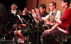 Band students prepare for concert