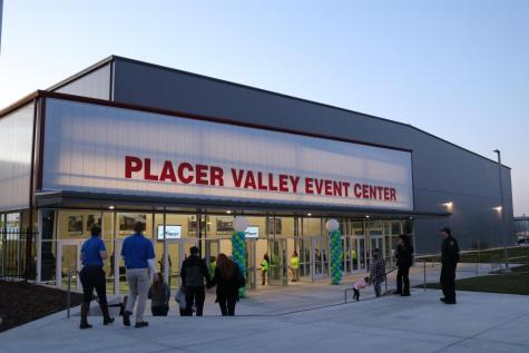 Patrons enter the brand new Placer Valley Event Center on its grand opening night.