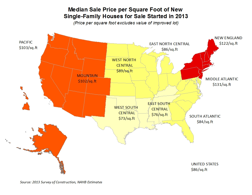Where Are Sale And Contract Prices Per Square Foot Highest Eye On Housing