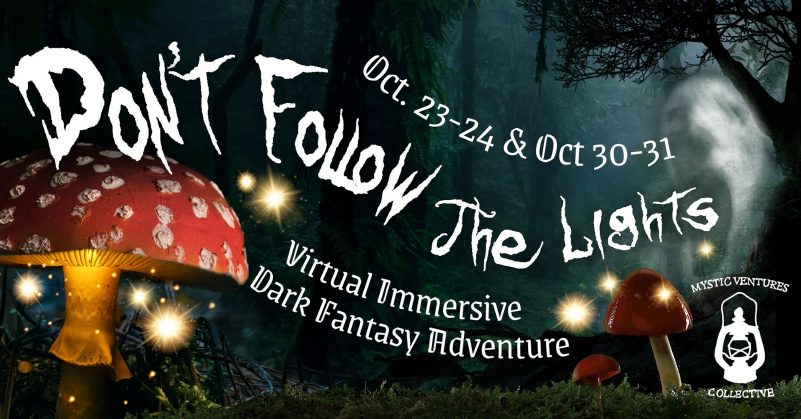 Don't Follow The Lights from Mystic Ventures immersive theatre virtual remote experience mystic ventures halloween dark fantasy