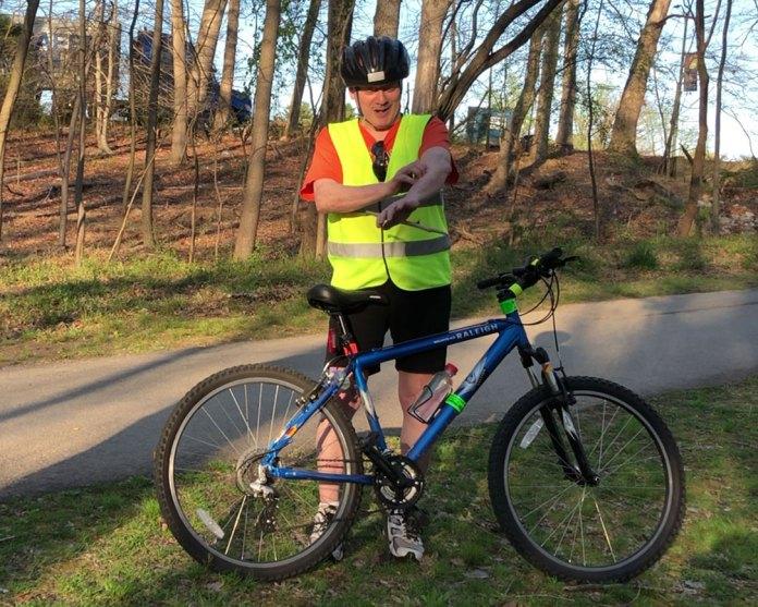 Sligo Creek Trail bicycle rider Mark Holsley endured a bicycle crash when an owl barrelled into him.
