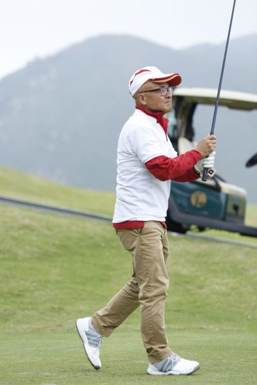 Photo from Sowers Action showing its volunteer chairman Albert Ho during the Charity Golf Tournament in Hong Kong on April 20, 2018