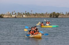 "Tourists enjoy kayaking at ""The Pen Bay International Leisure Zone"" (Taken from ""The Pen Bay International Leisure Zone"" Facebook Page)"