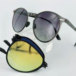 士林民視眼鏡金屬摺疊偏光太陽眼鏡水銀鏡面